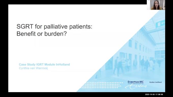 SGRT for palliative patients - Benefit or burden