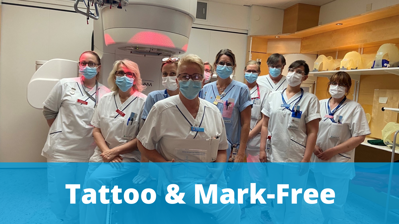 Örebro University hospital go tattoo and mark-free with surface guided radiation therapy